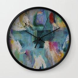 Madras Lilies Wall Clock