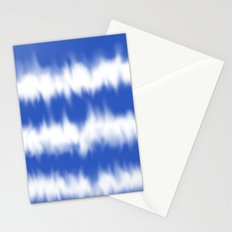 Blue tie dye Stationery Cards