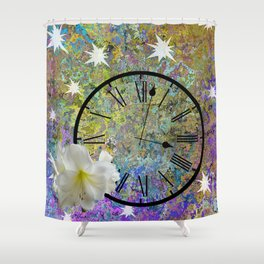 Time Explodes Shower Curtain
