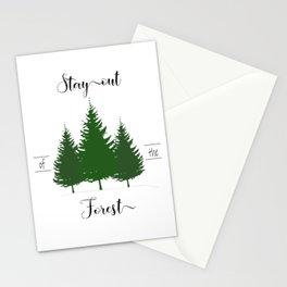 Stay out of the Forest-MFM Stationery Cards