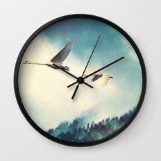 Winter Flight Wall Clock