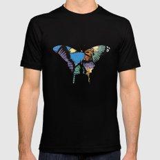 Butterflies MEDIUM Black Mens Fitted Tee