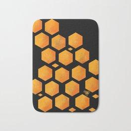 Bee in a Honeycomb Bath Mat