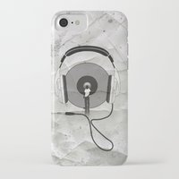 afro iPhone & iPod Cases featuring vinyl afro by Vin Zzep