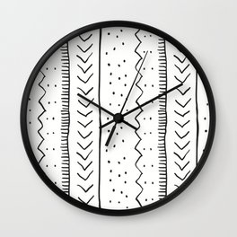 Moroccan Stripe in Cream and Black Wall Clock