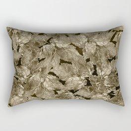 Autumn Leaves - sepia Rectangular Pillow