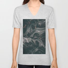 turne II. Abstract Charcoal Melt Unisex V-Neck