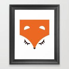 Fox minimal Framed Art Print