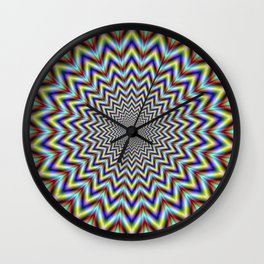 Pulsar in Red Yellow and Blue Wall Clock