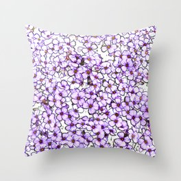 Lost in the Flowers Throw Pillow