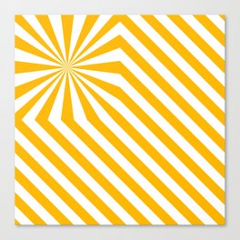 Stripes explosion - Yellow Canvas Print