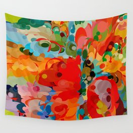 color bubble storm Wall Tapestry