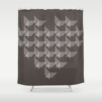 vector Shower Curtains featuring Vector Heart by By Nordic