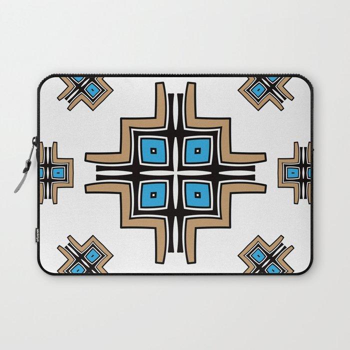aztec cross mandala Laptop Sleeve