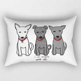 3 Musketeers, I Love Bali Dogs Rectangular Pillow