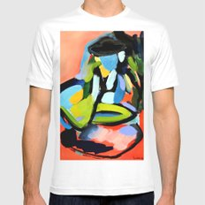 Picnic MEDIUM White Mens Fitted Tee