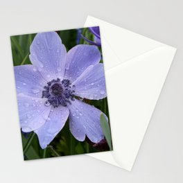 Purple flower with dew drops I Nature I Spring I Garden I Photography Stationery Cards