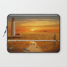 The view above and under water Laptop Sleeve