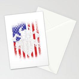 Viking Odin USA America flag Stationery Cards