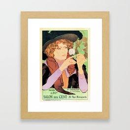 Art Nouveau Expo Salon des Cent Paris Framed Art Print