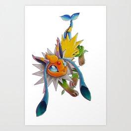 Chymereon— Eeveelutions Mashup Art Print