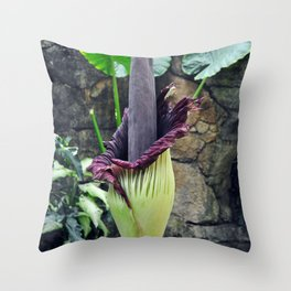 Amorphophallus Titanum Throw Pillow
