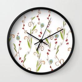 Flower vines Wall Clock