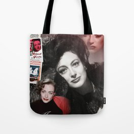 Joan Crawford Collage Portrait Tote Bag