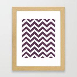Dark byzantium - violet color - Zigzag Chevron Pattern Framed Art Print