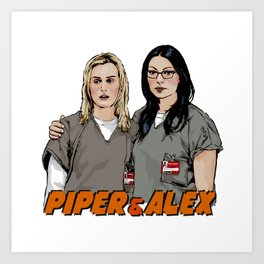 Piper & Alex Art Print