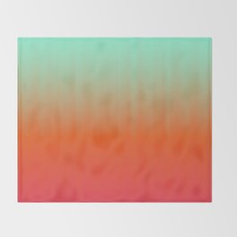 Emerald orange fuchsia gradient Throw Blanket