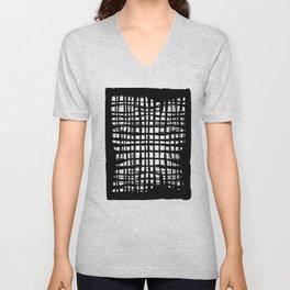 black and white screen Unisex V-Neck