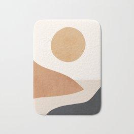 Minimal Abstract Art Landscape 9 Bath Mat