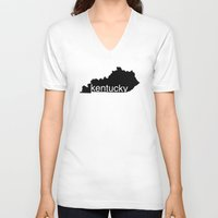 kentucky V-neck T-shirts featuring Kentucky by Isabel Moreno-Garcia