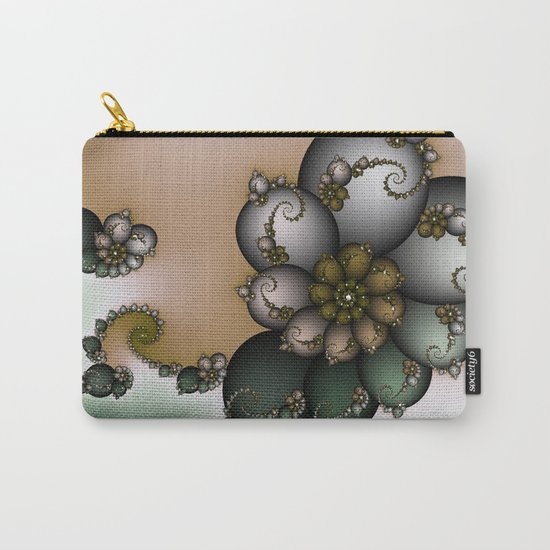 Trinket Flower Fractal Carry-All Pouch