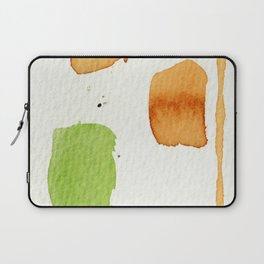 Orange and Green Abstract Art Laptop Sleeve