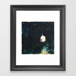 Church on Dark Framed Art Print