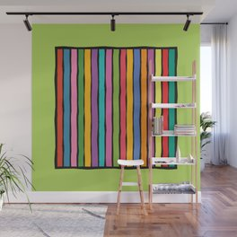dp203-4 Colorful Stripes Wall Mural