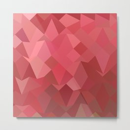 Fandango Pink Abstract Low Polygon Background Metal Print