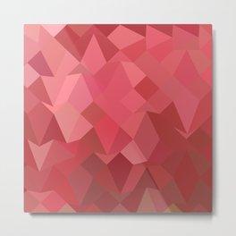 Fandango Pink Abstract Low Polygon Background Metal Print