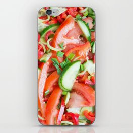 Vegetable salad iPhone Skin