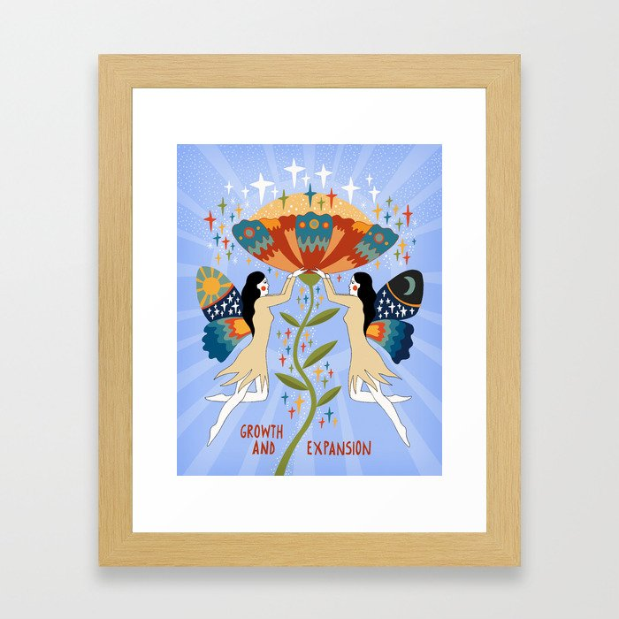 Growth and expansion Framed Art Print