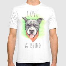 Pitbull - Love is blind - Stevie the wonder dog White MEDIUM Mens Fitted Tee