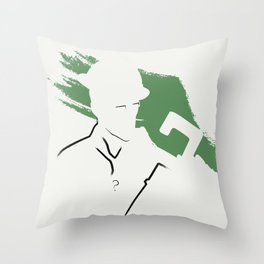 Riddle Ink Throw Pillow