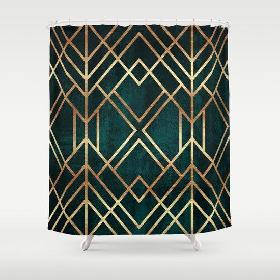 dark teal shower curtain. Dark Teal Geo Shower Curtain By Elisabeth Fredriksson Society6Wonderful  Gallery Best inspiration home Basket Weave