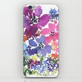 Pretty Poppy Patch iPhone Skin