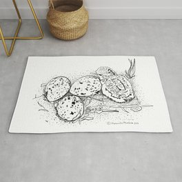 American Oystercatcher nest Rug