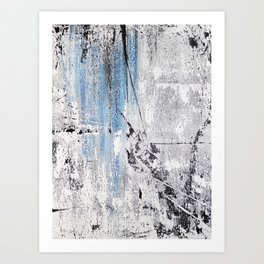 #10 TEXTURED MODERN ABSTRACT PAINTING Art Print
