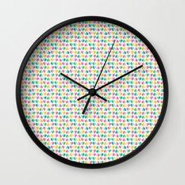 Pastel Sweetheart Valentines Wall Clock