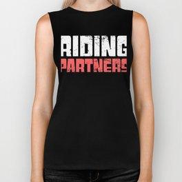 Riding Partners - Snowmobile Design Biker Tank